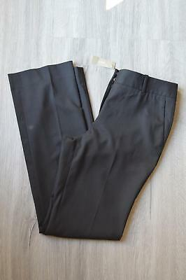 JCrew $148 Campbell Trousers Super 120s Wool 4 Black Pants C9175 Suiting Work