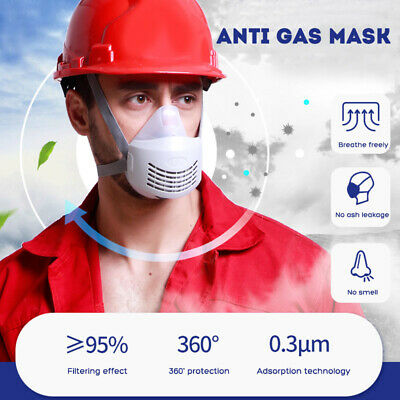 Anti Gas Mask Survival Safety Respiratory Emergency Filter Mask+20 Filters Pad