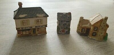 Vintage Collectable Minature English Cottages x 3