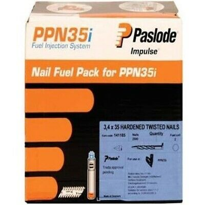 Paslode 3.4 X 35MM Twisted Nails Fuel Pack for PPN35i