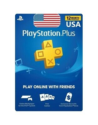 12 Month PS Plus Subscription, Digital Code, only for United States,