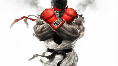 157869 Street Fighter - Fight Ryu Guile Ken ChunLi Game Wall Print Poster UK