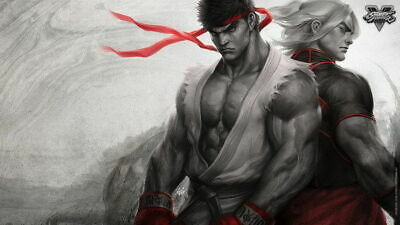 158276 Street Fighter - Fight Ryu Guile Ken ChunLi Game Wall Print Poster UK