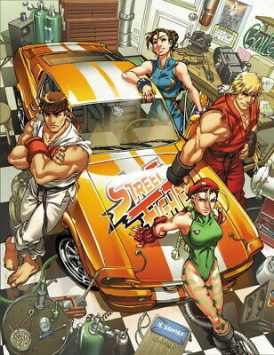 159498 Street Fighter - Fight Ryu Guile Ken ChunLi Game Wall Print Poster UK