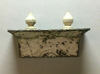 Architectural Destressed Embossed Reclaimed Tin Mantle Shelf Home Decor 305-BE