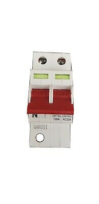 Crabtree 100/M12 100A Double Pole Main Switch Isolator