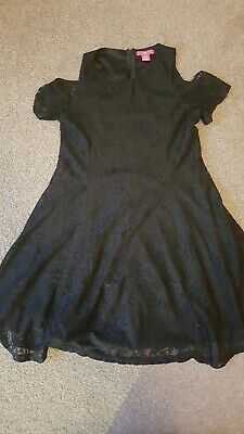 Gorgeous Girls Black Lace Dress Aged 11-12yrs. Worn once. In excellent condition