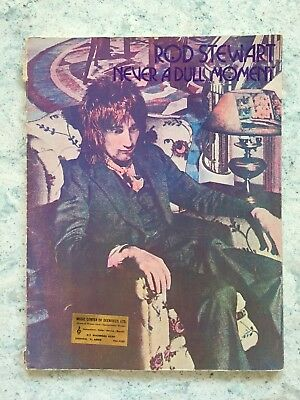 Vtg 1972 ROD STEWART Never a Dull Moment MUSIC & SONG BOOK WB Publications