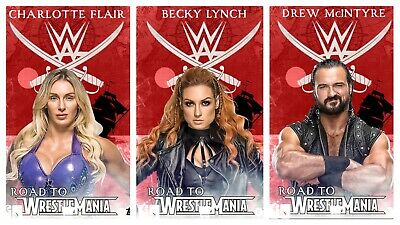 3x ROAD TO WRESTLEMANIA RED WEEK 2 SET 3 CARD 2020 Topps WWE SLAM DIGITAL BECKY
