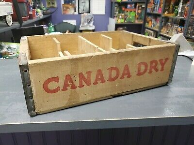 Canada Dry vintage wooden bottle crate 1960 Chattanooga Tennessee Cases Rare