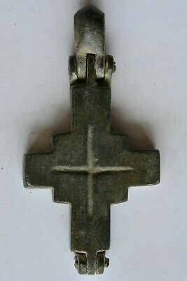 Byzantine bronze encolpion cross INSCRIPTION 6th century AD