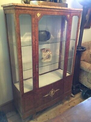 Art Deco Burr Walnut Cabinet With Marble Top