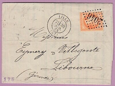 N°31 Gc 2046 Lille Nord Libourne Gironde Lettre Cover