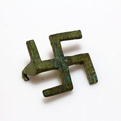 Very Rare Ancient Roman Bronze Fibula Brooch Circa 200 Ad