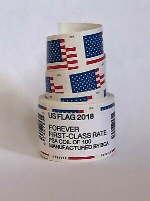 US Forever Flag Stamp 2018 Roll 100 ct FAST FREE SHIPPING!