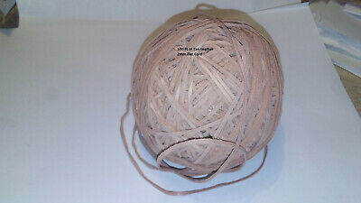 Tan Leather 2 mm Flat Cord 100 foot Ball NWT crafts jewelry lacings accessories
