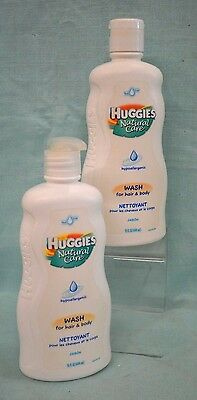 2 PC Huggies NATURAL CARE Hypoallergenic WASH Hair & Body Baby Tear FREE 30 oz