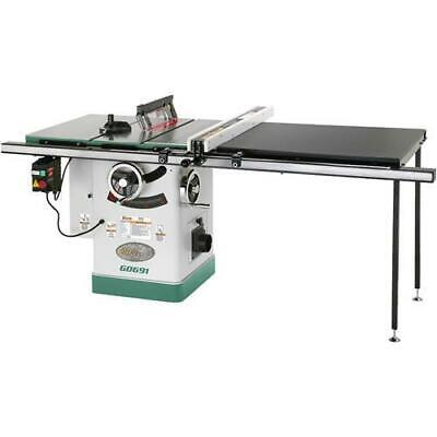 Grizzly G0691 220V 10 Inch 3HP Cabinet Table Saw with Long Rails & Riving Knife