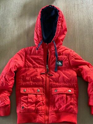 Quiksilver Boys Jacket Size 4 Puffer Style