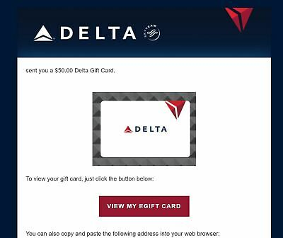 Delta Airlines Gift Card $200