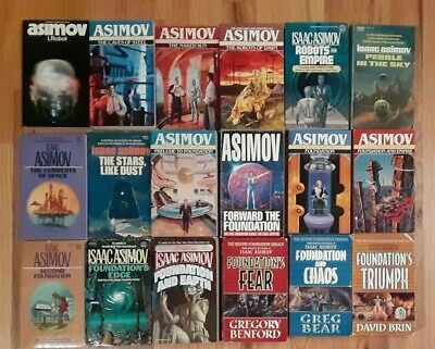 18 books lot Isaac Asimov Complete Robot Foundation Empire Second Trilogy