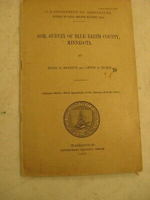 Blue Earth County Minnesota 1907 Soil Survey & Map Us Government