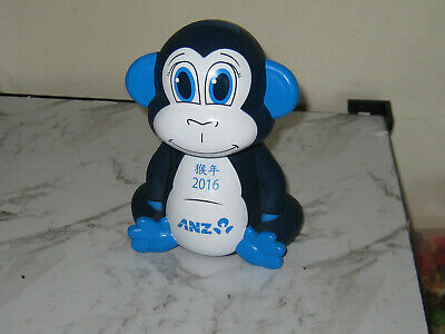 Anz Bank Collectible Monkey  Money Bank - 2016-Great Used