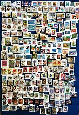 US Stamp Lot Collection 200+ All Different Self Adhesive Stamps