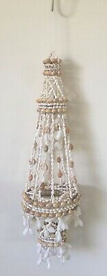 Chandalier 3 Tiered Hanging Planter Bubbles Nassa Cowry Shell approx 60cm