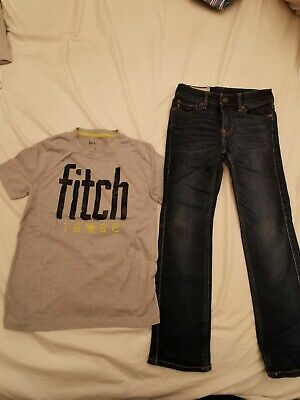 Boys abercrombie n fitch T shirt n jeans Bundle age 8 Years