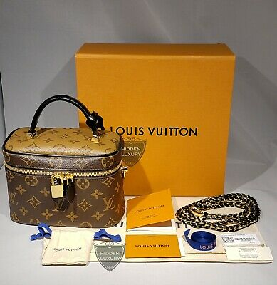 New Louis Vuitton Vanity PM w/ Strap Monogram Reverse Shoulder Bag Nice M45165