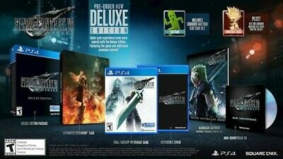 Final Fantasy VII Remake Deluxe Preorder (PlayStation 4, 2020)