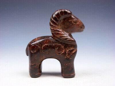 Old Nephrite Jade Stone Carved Sculpture Standing Ancient Antelope #10141903