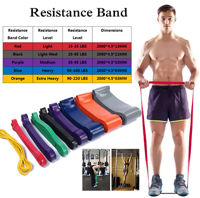 Resistance Bands Exercise Loop Set Pull Up Workout Men Women Fitness Yoga Sets