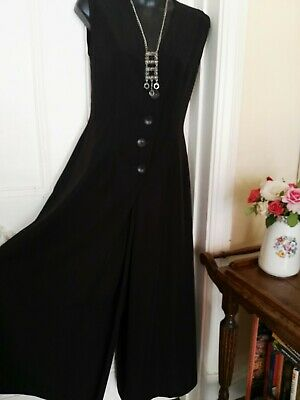 RETRO DARK BROWN COLOUR WIDE LEG JUMP SUIT BY KERRY McGEE