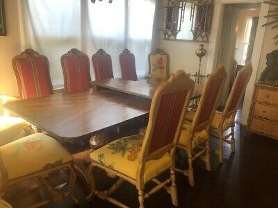 Superb Quality Set of 10 Dinging  Chairs and a Matching Dining Table