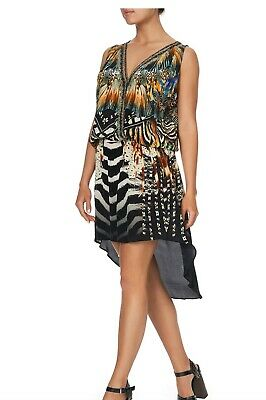 Camilla LOST PARADISE Cross Over Dress w Long Back Size M BNWT RRP $529