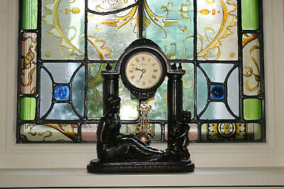 COUNTRY HOUSE SALE Antique French Rococo Style Ornate Mantel Clock,Vintage