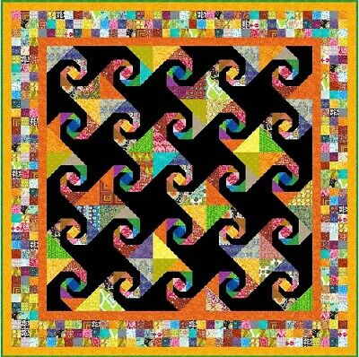 """OPALESCENCE - 81"""" - Pre-cut Patchwork Quilt Kit by Quilt-Addicts Dble"""