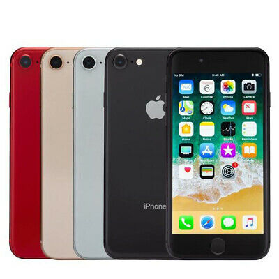 Apple iPhone 8 64GB 256GB Unlocked Smartphone Sim Free Grey Silver Red Gold