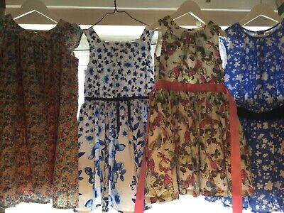 bundle of girls summer dresses marks and spencer and next age 5-6 6-7 yrs vgc