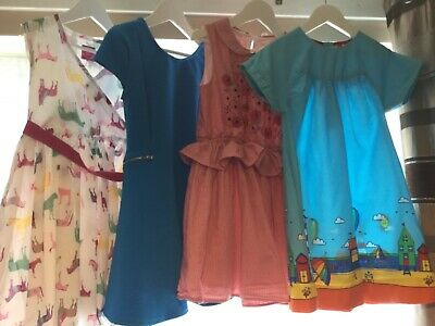 bundle of girls summer dresses, little bird, joules, next, m and s 6,7,8 years