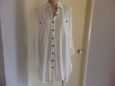 New Faithfull The Brand White Spencer Shirt Dress Size 8 $169
