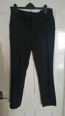 Girls Marks & Spencer Black School Trousers Age 15-16