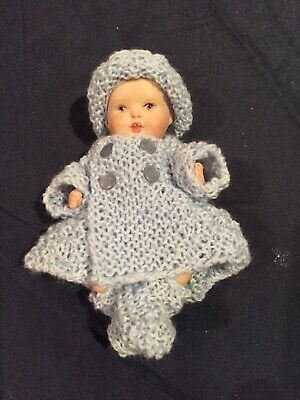 Hand knitted dolls clothes for 5 inch doll