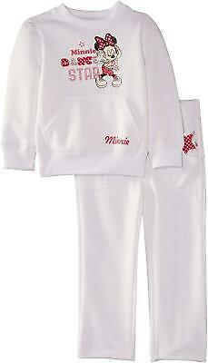 Girls Disney Minnie Mouse Jogging Suit / Tracksuit White-3 Years / 98 cm