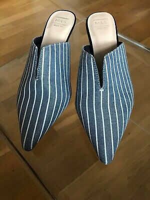 M & S Slip On Mules Ladies Shoes . Brand New. Size 4.5 Eur 37.5