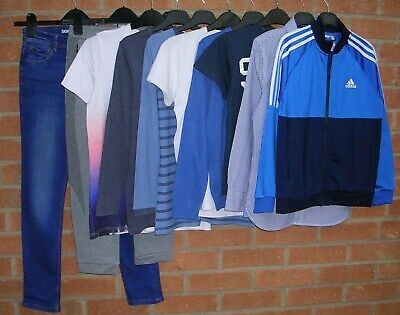 NEXT ADIDAS BODEN RIVER ISLAND PUMA etc Boys Bundle Jeans Tops Age 9-10 140cm