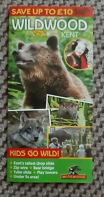 Wildwood Kent Promotional Flyer Includes £10 Money Off Voucher For Entry - bears
