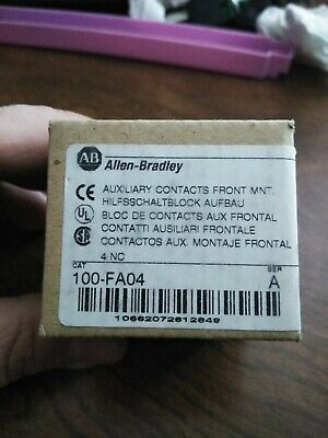Allen Bradley 100-FA04 Auxiliary Contact New in the box
